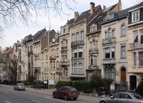 Rue cyclable sur le Boulevard Lambermont