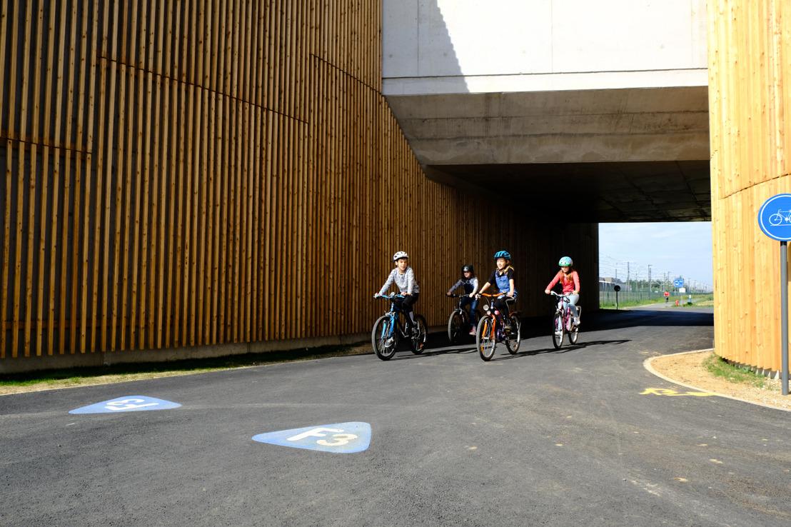 Kortenbergse tunnels bij 'knikjes' op fietssnelweg F3 open voor verkeer