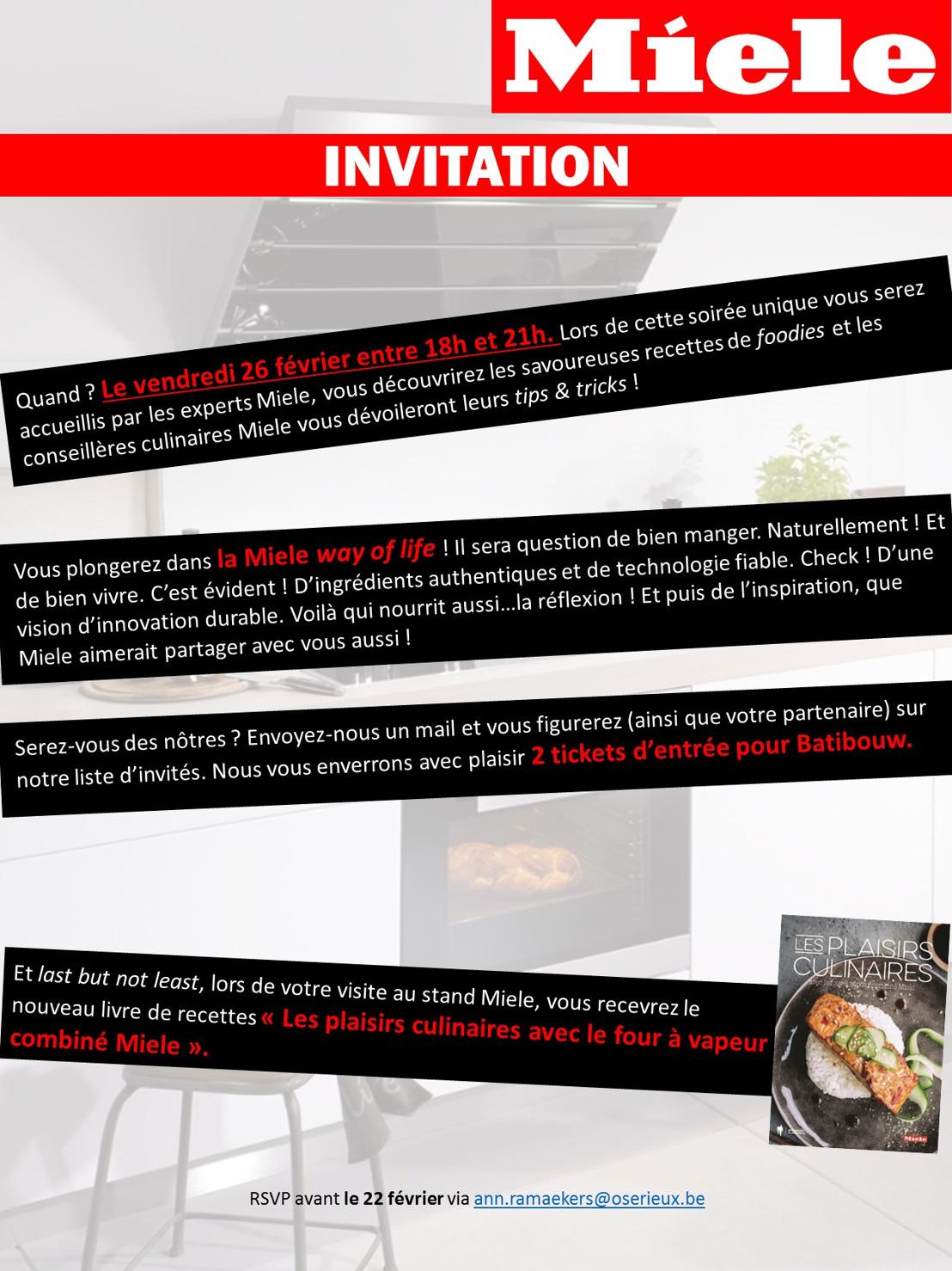 Invitation Miele - Batibouw