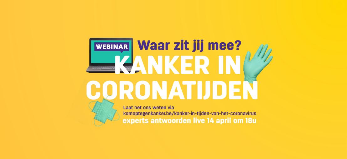 Kom op tegen Kanker organiseert webinar over kanker en coronavirus voor patiënten