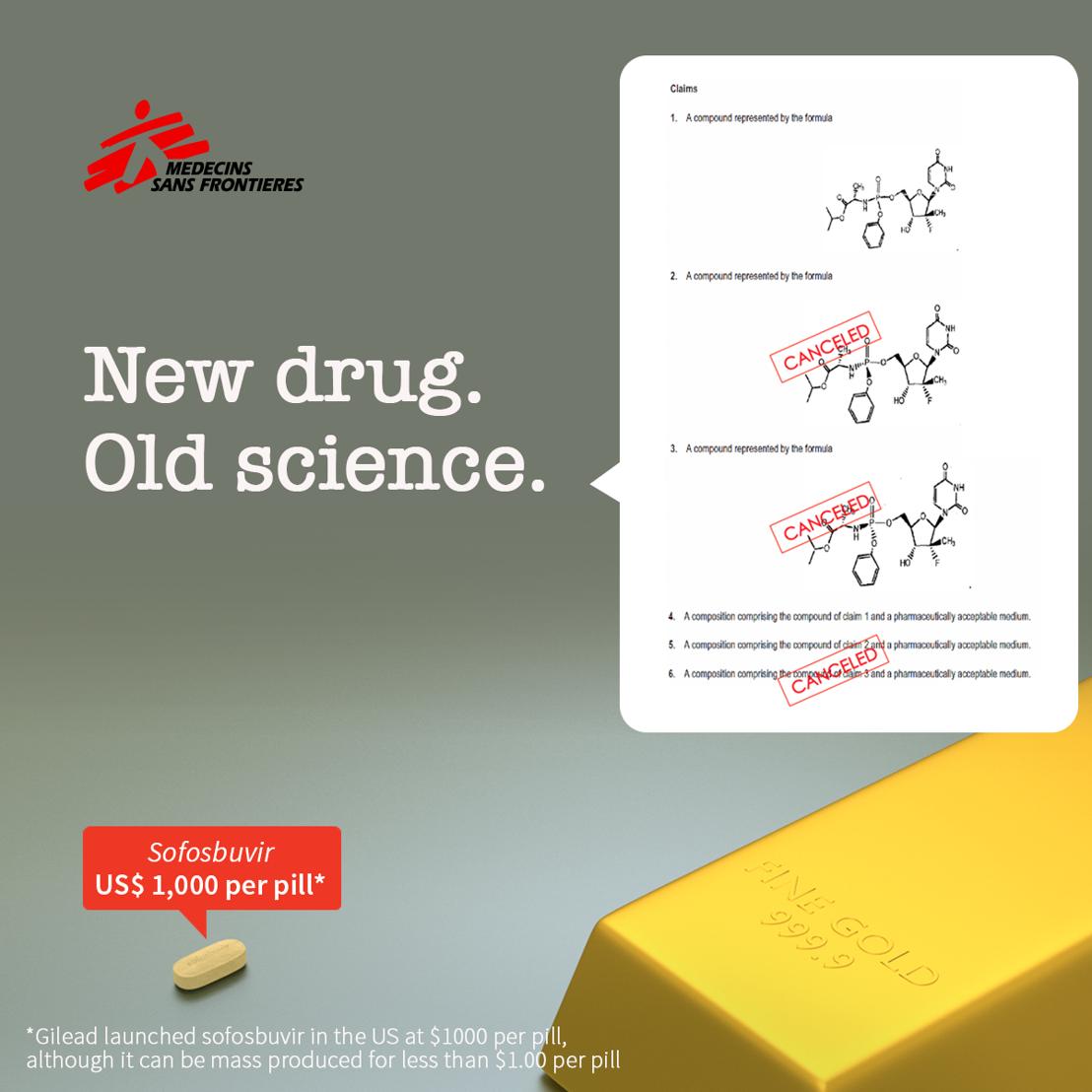MSF und weitere Hilfsorganisationen fechten Patent auf Hepatitis-C-Medikament an