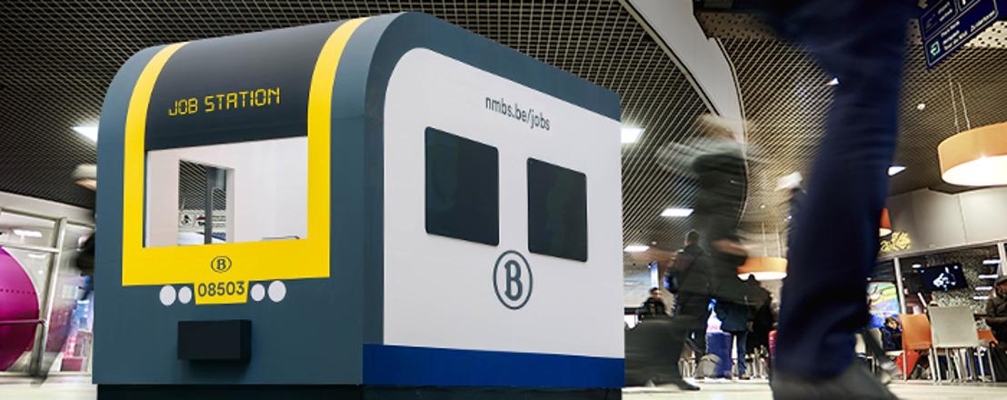 Brussel-Zuid wordt 'Job Station' van 2 tot 13 maart