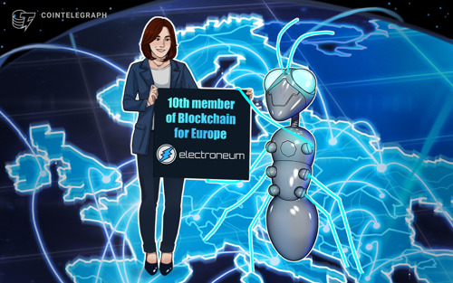 COINTELEGRAPH Crypto payments network becomes 10th member of Blockchain for Europe