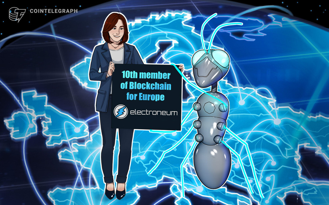 COINTELEGRAPH|Crypto payments network becomes 10th member of Blockchain for Europe