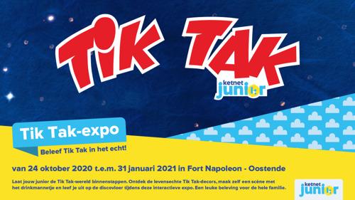 Ketnet Junior komt naar je toe met de allereerste Tik Tak - Expo in Fort Napoleon