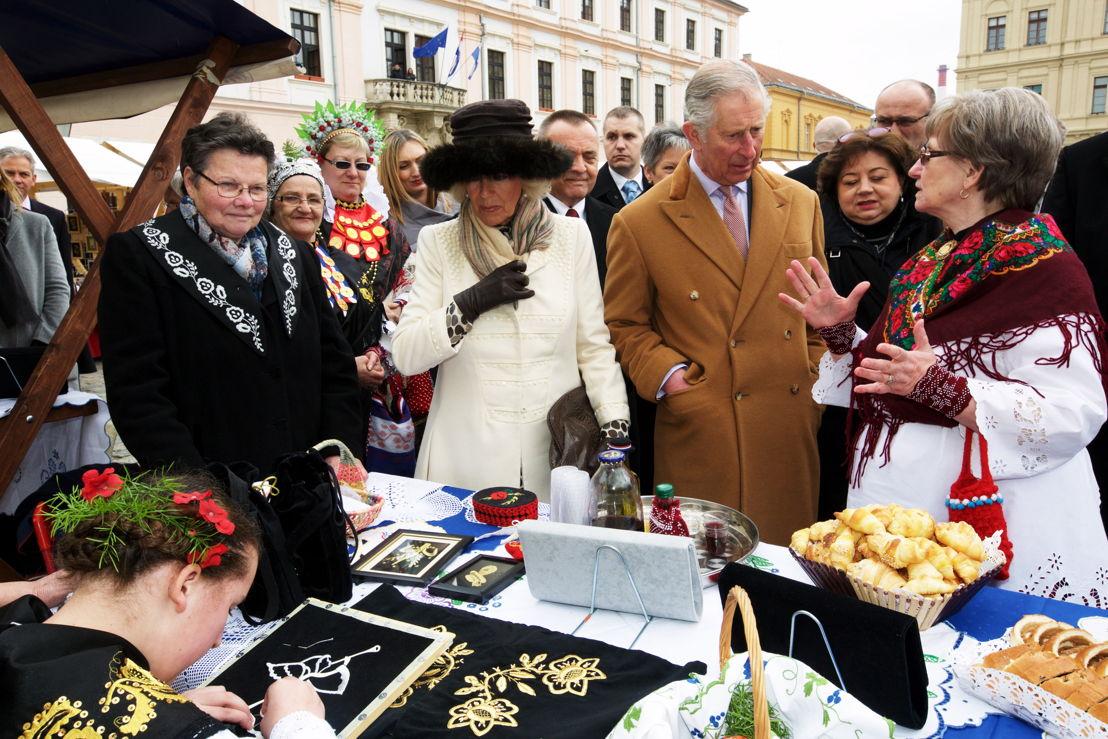 Charles en Camilla in Osijek