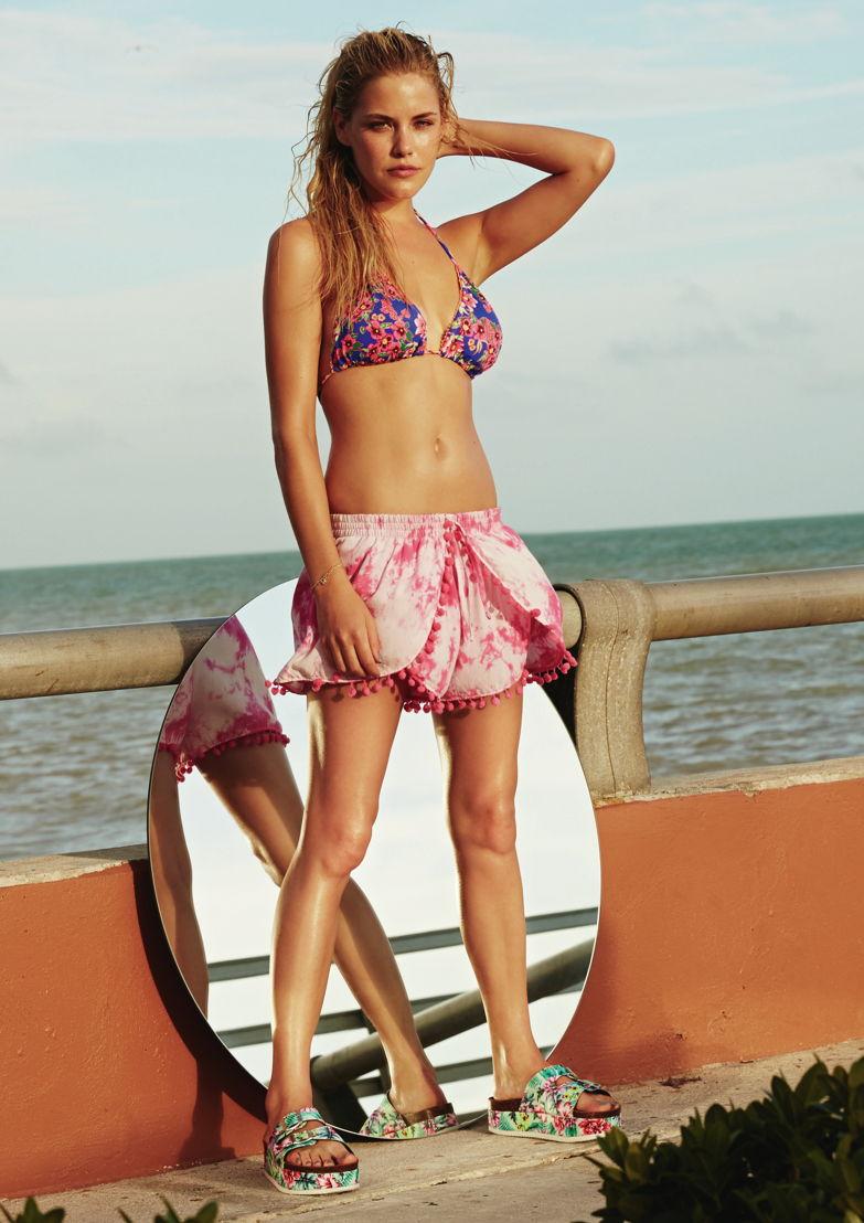 Bikini €12, shorts €7, shoes €10, bracelets €2.50