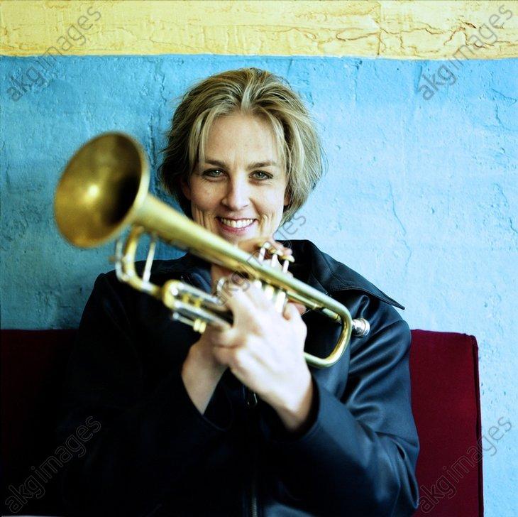 Portrait of Ingrid Jensen Jazz Trumpet Player Performs in Maria Schneider&#039;s Big Band<br/>AKG3543265