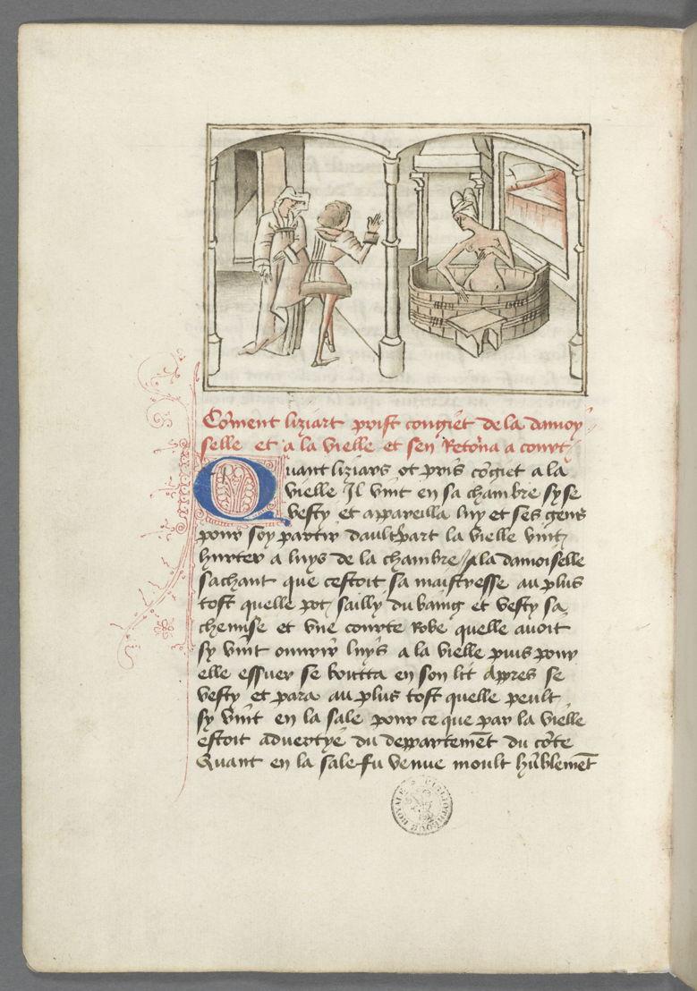 """De Roman van Gerard van Nevers<br/>De """"Roman van Gerard van Nevers"""" vertelt de idylle tussen ridder Gerard van Nevers en de mooie Euryant. Een liefdesverhaal dat wordt gedwarsboomd door een afgewezen rivaal, Liziart. Het verhaal bevat alle ingrediënten van de hoofse romans: gevechten, banketten, draken, reuzen …, ook al is de toon soms kritisch en spottend ten aanzien van de traditionele ridderliteratuur. Het werk bevat meer dan vijftig illustraties die met inkt en aquarel zijn vervaardigd. Deze bijzondere en opmerkelijk moderne tekeningen bevrijden zich van de traditionele productie van hun tijd. Ze zijn van de hand van de Meester van Wavrin, een anonieme miniaturist die wordt genoemd naar zijn voornaamste opdrachtgever."""