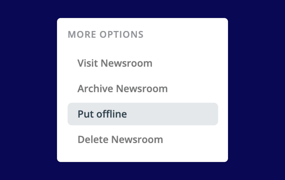 Help: Put your newsroom offline
