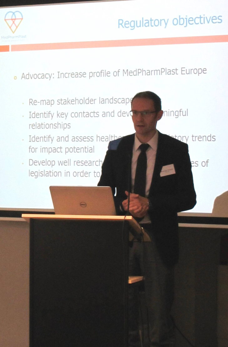 Christian Meusinger, new President of MedPharmPlast Europe, during his presentation