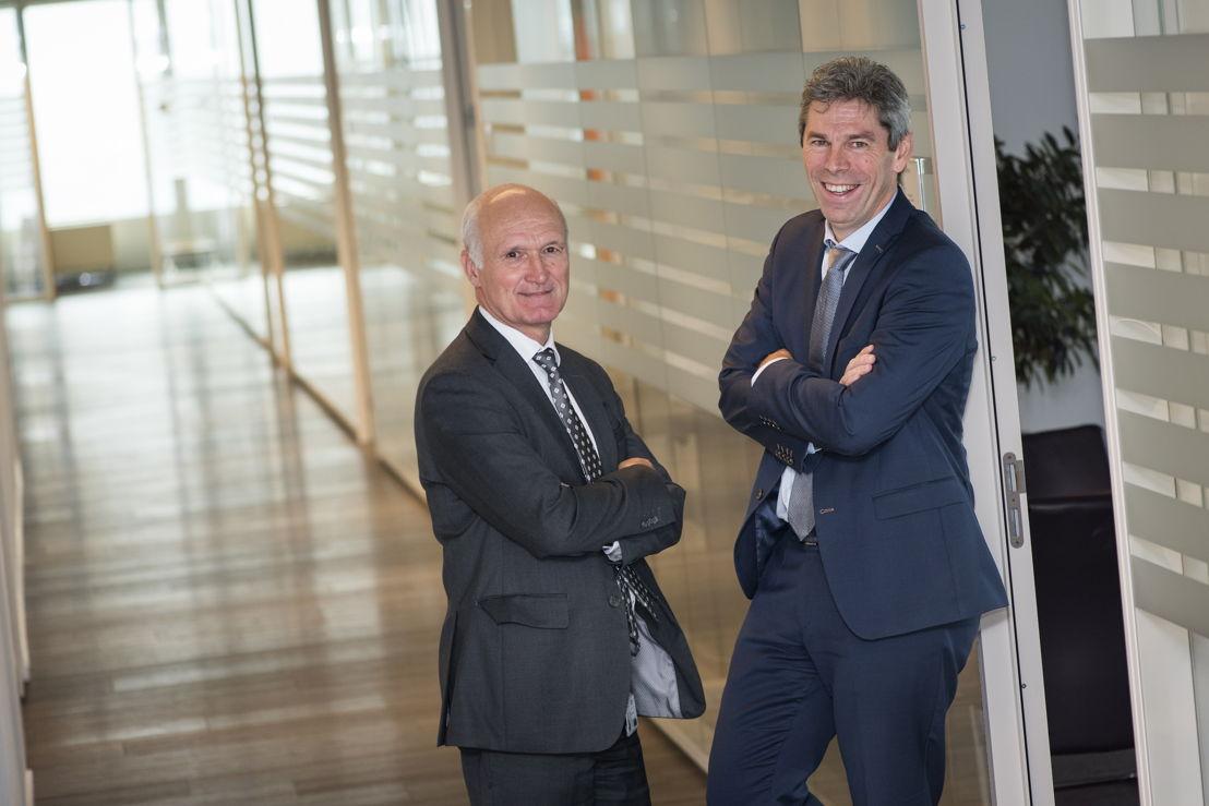 Gedelegeerd bestuurder Walter Van den Bossche en CEO Frank Vanbrabant