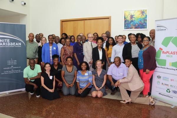 """Preview: Lancement du projet de recyclage du plastique """"RePLAST OECS"""" à Sainte-Lucie"""