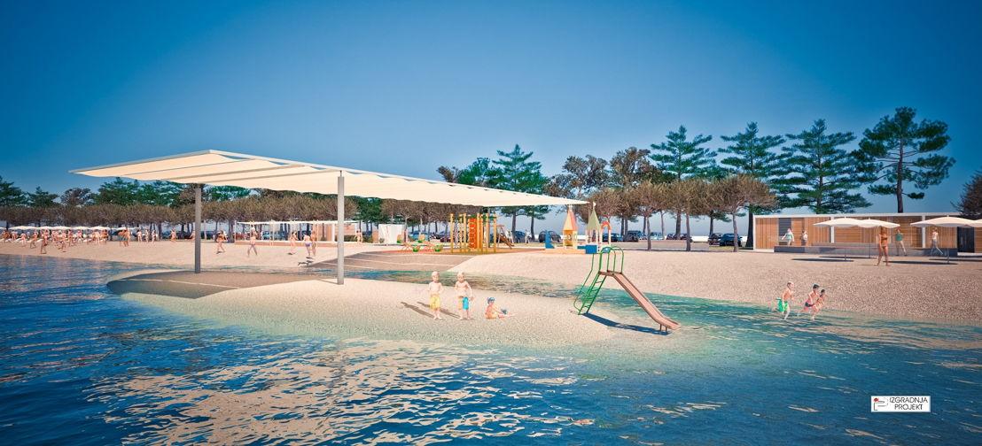 Brodarica Beach in Šibenik