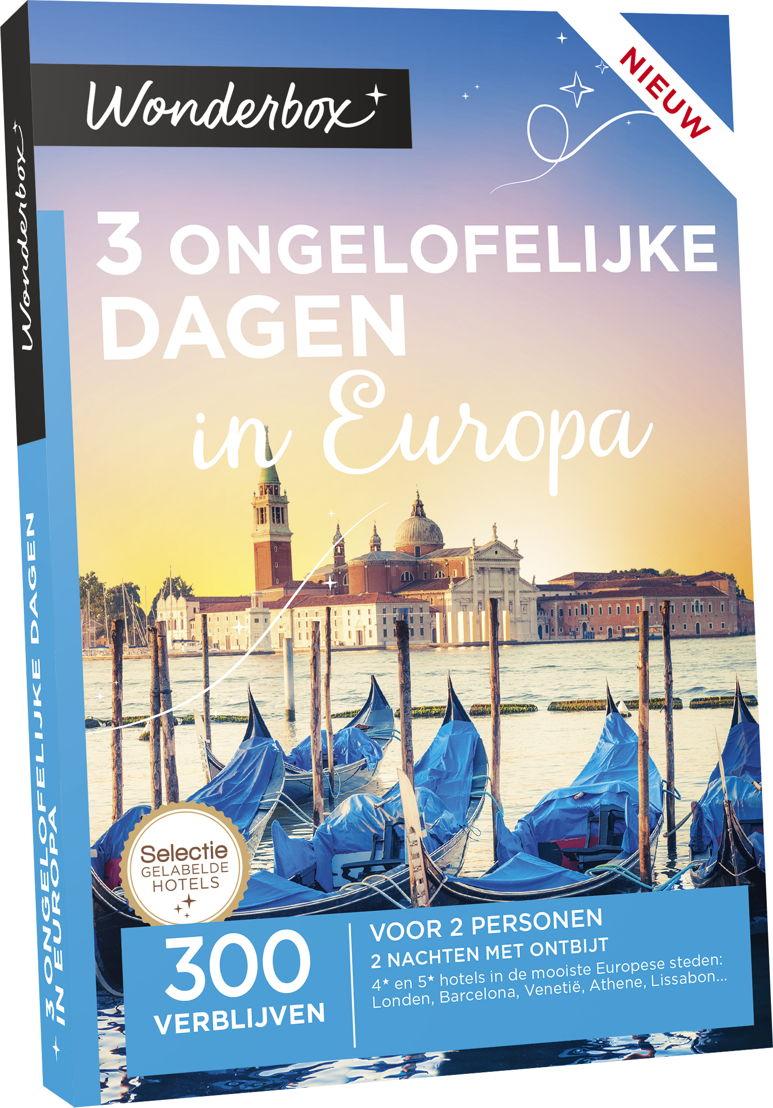 """Wonderbox """"3 Ongelofelijke dagen in Europa' - €299,90"""