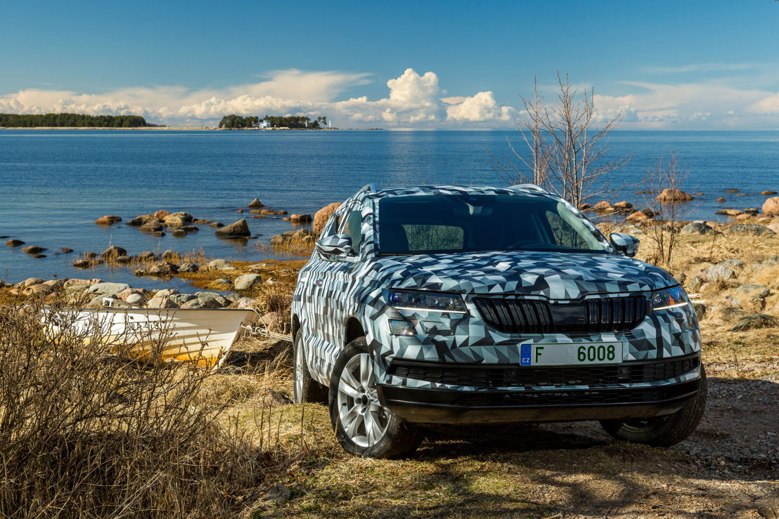 The ŠKODA KAROQ is a completely new compact SUV. The emotive and dynamic design with numerous crystalline elements characterises ŠKODA's new SUV design language.