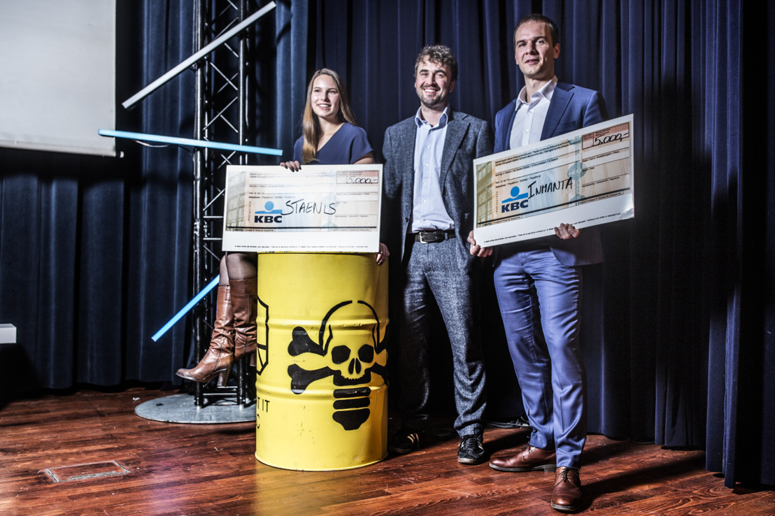La start-up Staenis remporte le Start it @KBC Award lors du concours de pitches du Demo Day