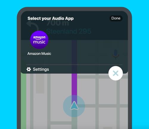 Ya puedes reproducir canciones en Amazon Music sin salir de Waze