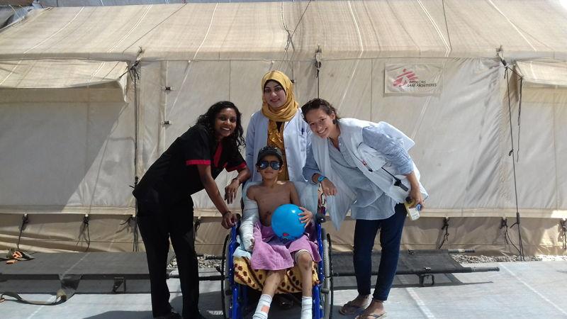 Vanessa Naidoo, emergency doctor, Hammam al-Alil, Mosul.