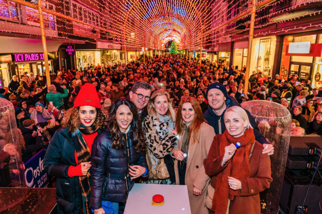 'Winter in Oostende' gaat fonkelend van start met opening vernieuwde lichttunnel