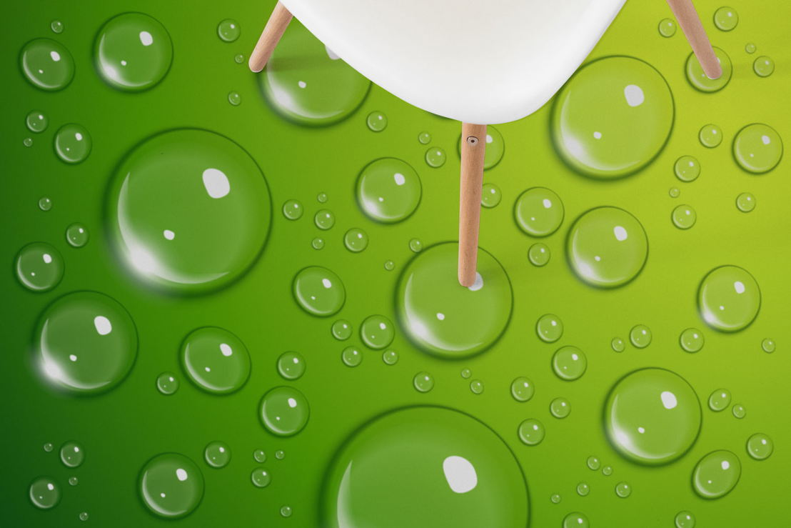 Lime Dew   Water Bubble Graphic Flooring