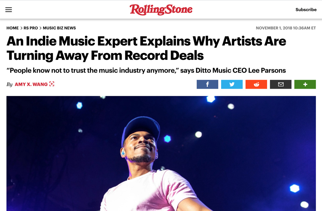 Ditto CEO Lee Parsons Explains Why More Artists Are Staying Independent