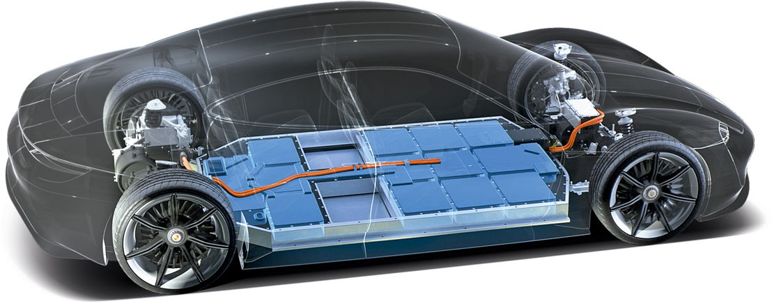 Baterías del Porsche Taycan