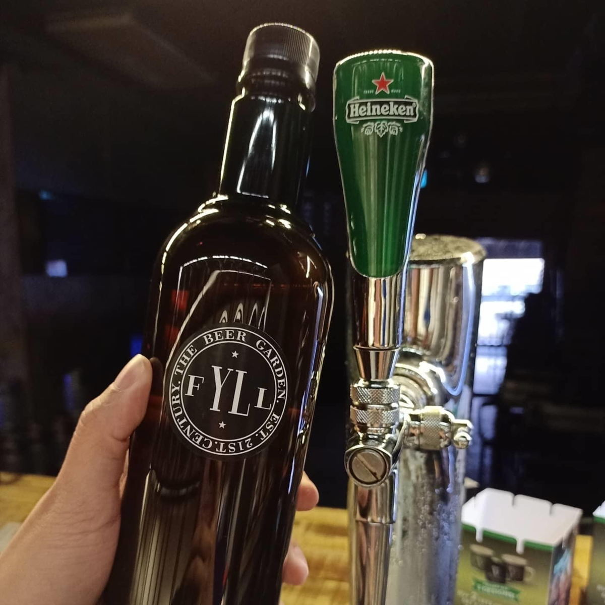 An innovative solution to an unprecedented situation — draught beer in a bottle!