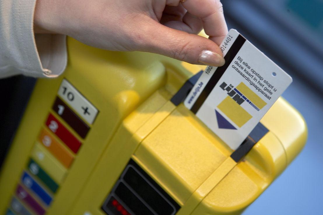 Ontwaarding van een biljet of Lijnkaart.