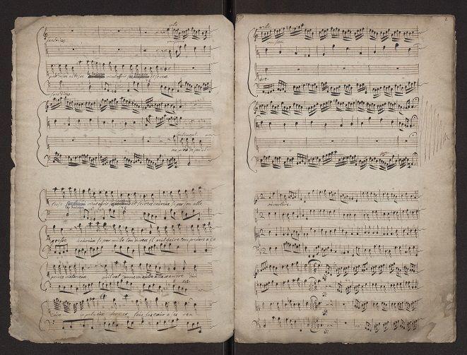 """Pages intérieures """"Le retour des plaisirs"""" Mus. Ms. 4448"""