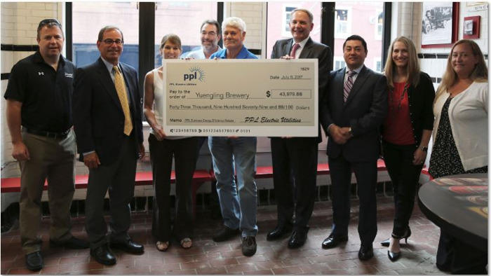 Brewery is recognized by PPL Electric Utilities for energy savings