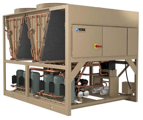 YORK® YLAA scroll chiller with low-GWP R-454B refrigerant