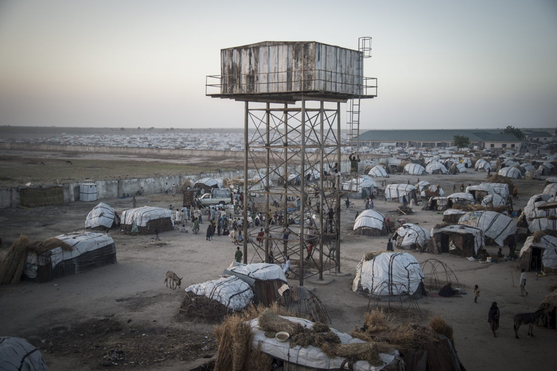 General view of the IDP camp in Ngala. Photographer: Sylvain Cherkaoui