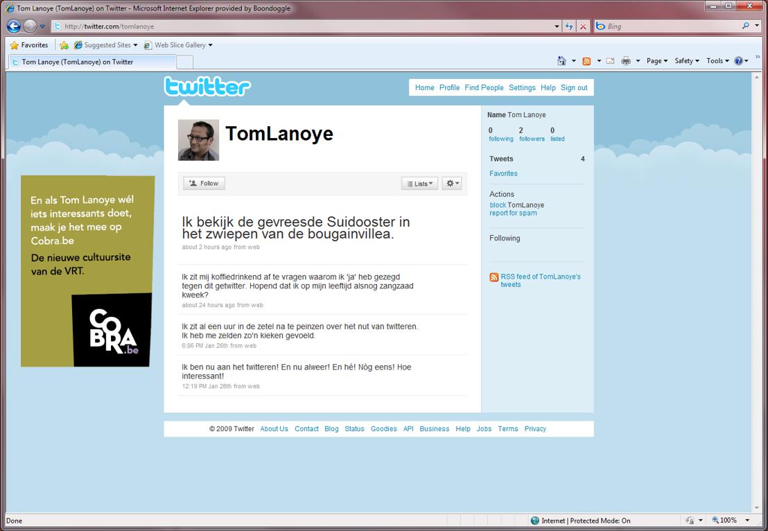 Online - Twitter - Tom Lanoye