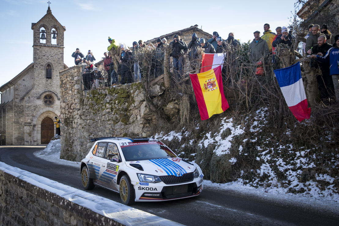 World Championship stars Andreas Mikkelsen and Anders Jæger triumphed at the first attempt in the ŠKODA FABIA R5.