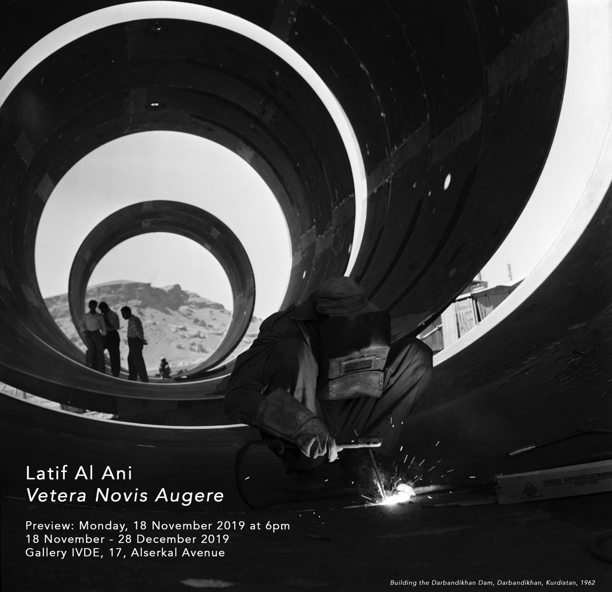Vetera Novis Auguere, Latif Al Ani Exhibition Invite. Courtesy of Gallery Isabele van den Eynde