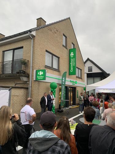 De nieuwe Carrefour Express in Lievegem, een heus vader-zoon verhaal