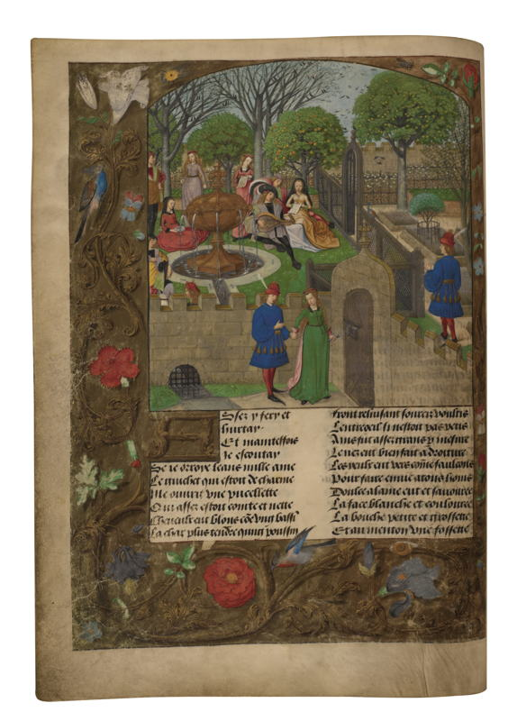 © Master of the Prayer Books of around 1500, The Lover Entering the Garden of Delights In: Guillaume de Lorris and Jean de Meung, Le Roman de la Rose, Brugge, c.1490–1500. London, The British Library.