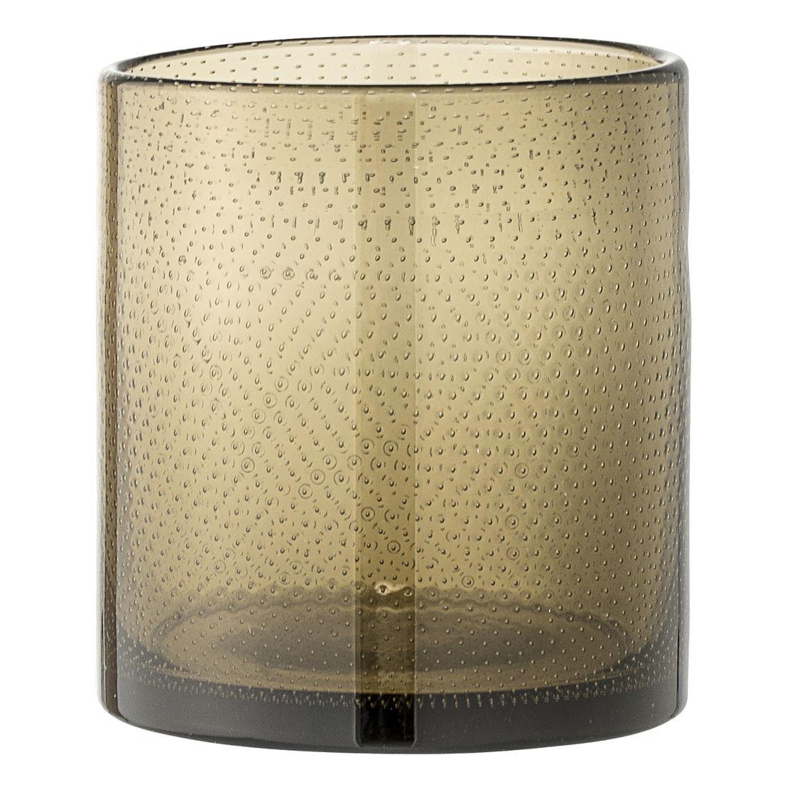 Bloomingville Waxinelichthouder puntjes bruin glas - €29