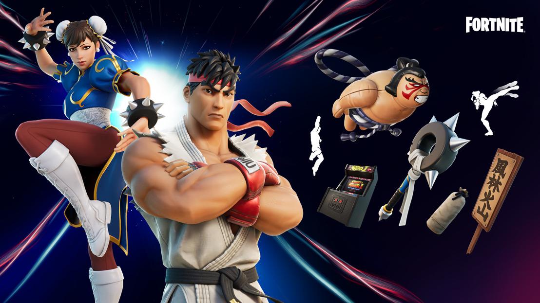 Ryu y Chun-Li de Street Fighter se unen a Fortnite
