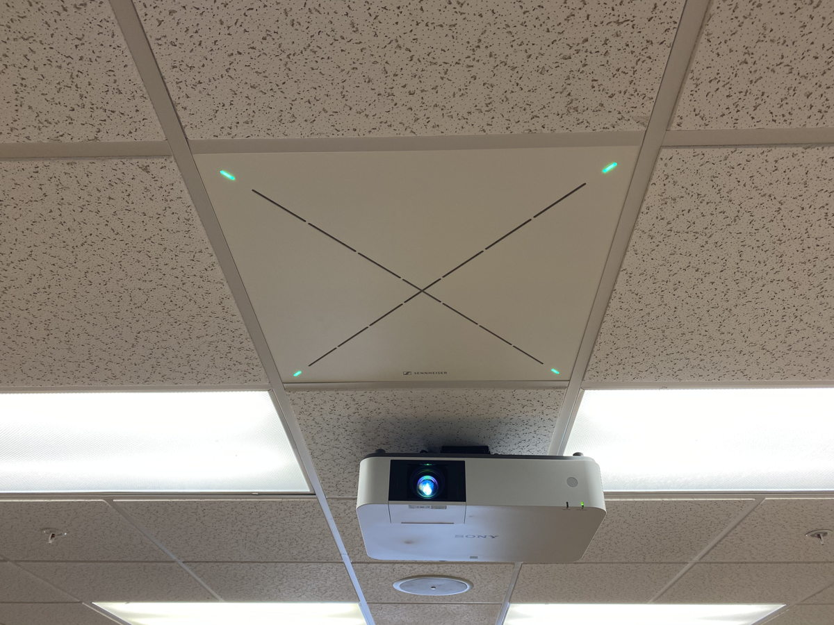 For USF, Sennheiser's TeamConnect Ceiling 2 presented a cost-effective option that featured excellent performance and was also easy to deploy (Photo courtesy USF)