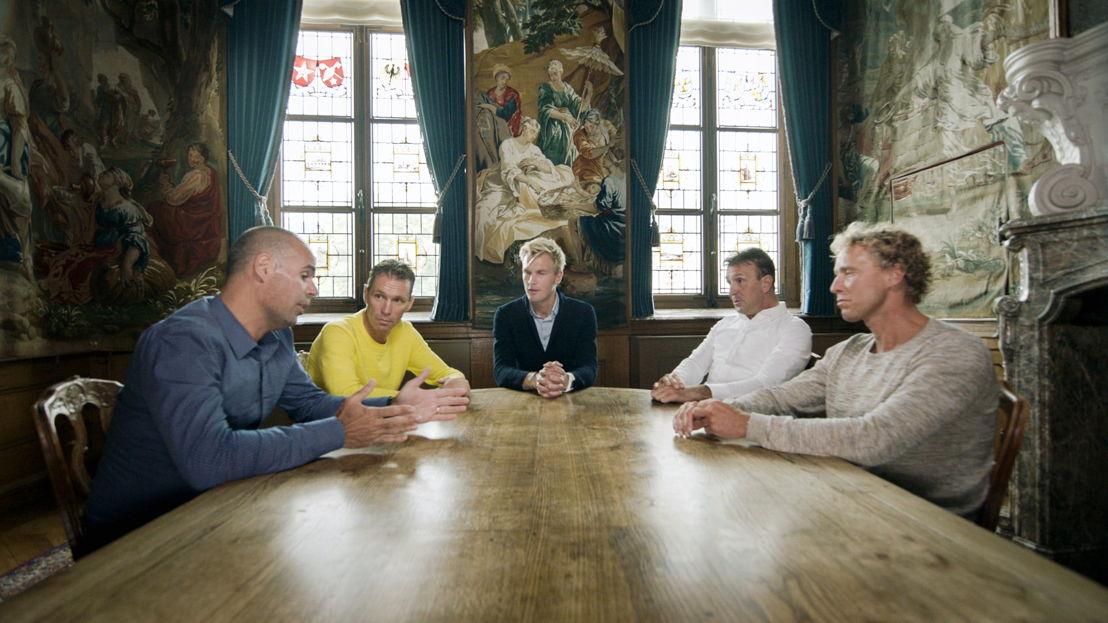 Aflevering 5: Peter Van Petegem, Erik Dekker, Ruben Van Gucht, Johan Museeuw, Michael Boogerd - (c) Deklat Binnen