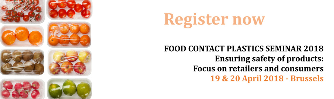 Registrations now open: Food Contact Plastics Seminar 2018