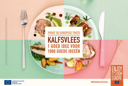 """Kalfsvlees """"1 goed idee voor 1000 goede ideeën"""" – smaakvolle Europese campagne"""