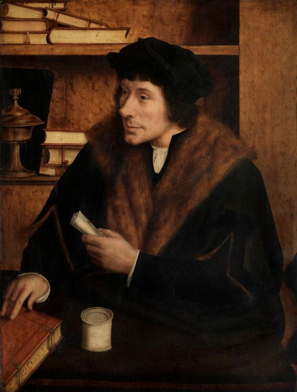 In Search of Utopia © Quinten Massys, Portrait of Pieter Gillis, 1517. Royal Museums of Fine Arts, Antwerp.