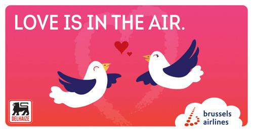 Brussels Airlines et Delhaize créent la b.giftbox, un coffret cadeau pour la Saint Valentin