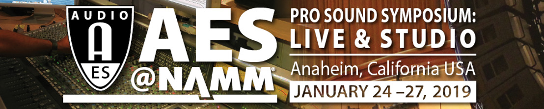 Synthax to Present AES@NAMM Sessions on Monitoring, Networking During the 2019 NAMM Show