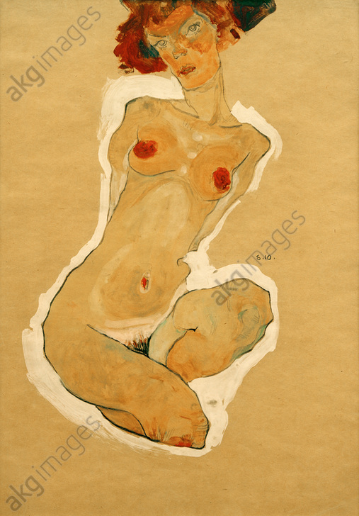 """""""Crouching female nude&quot;, 1910.<br/>AKG2086147"""