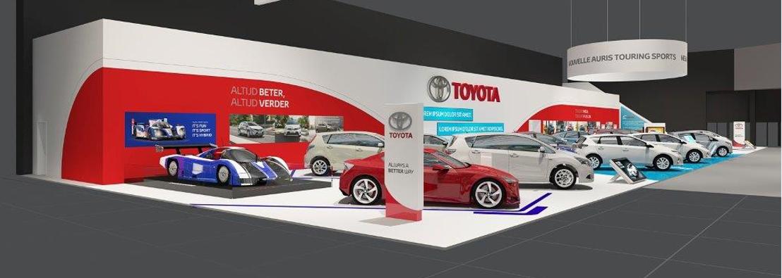 Toyota op het autosalon van Brussel