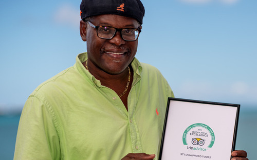 Saint Lucian Photographer Inducted into TripAdvisor Hall of Fame